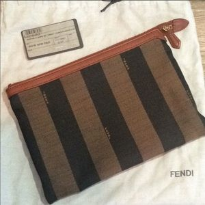 Fendi Pequin Clutch/Pouch